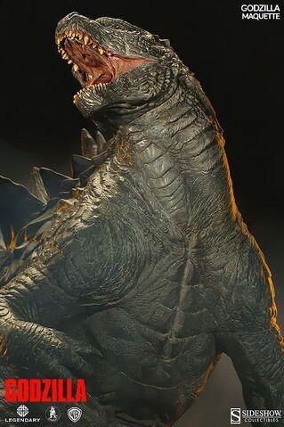 File:Sideshow Collectibles 24-inch Godzilla 2014 Maquette 4.jpg