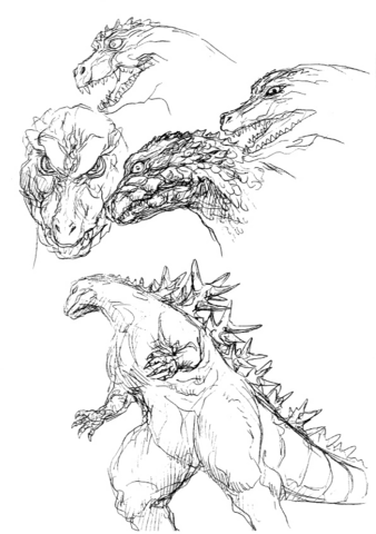 File:Concept Art - Godzilla 2000 Millennium - Godzilla 23.png