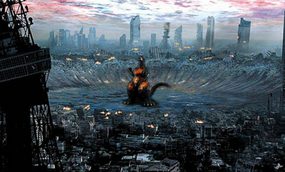 Godzilla 2004 burning form
