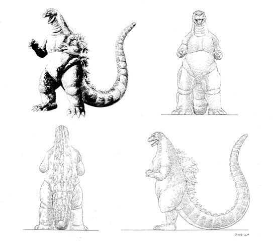 File:Godzilla vs King Ghidorah Godzilla concept art.jpg