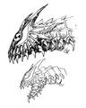 Concept Art - Godzilla 2000 Millennium - Orga 54