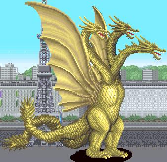 File:Godzilla Arcade Game - King Ghidora.png