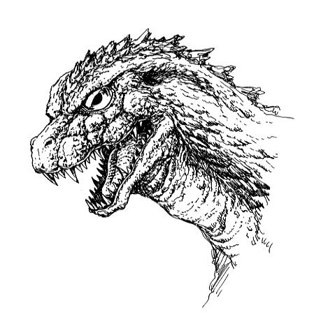 File:Concept Art - Godzilla 2000 Millennium - Godzilla Head 6.png