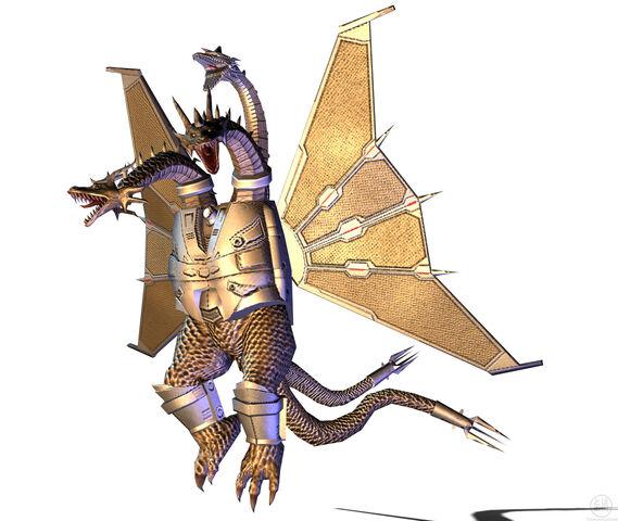 File:Godzilla Unleashed - Monster - Mecha King Ghidorah 1.jpg