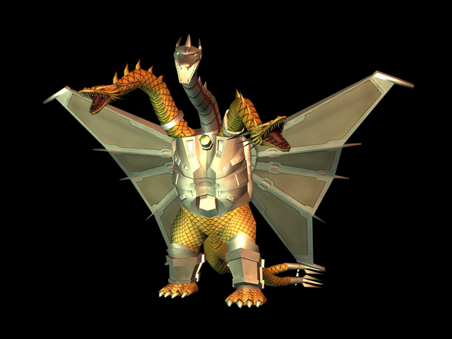 File:GDAMM Artwork - Mecha King Ghidorah.png