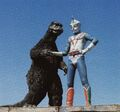 ZF - Godzilla and Zone Fighter Shaking Hands
