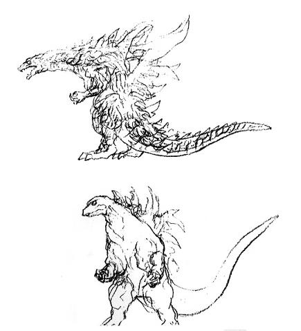 File:Concept Art - Godzilla 2000 Millennium - Godzilla 29.png