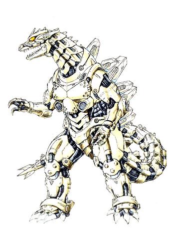 File:Concept Art - Godzilla Against MechaGodzilla - Kiryu 56.png