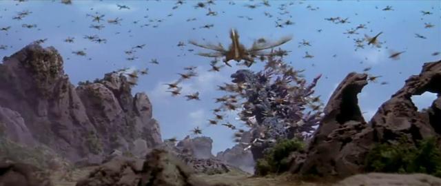 File:Godzilla vs. Megaguirus - Godzilla gets swarmed.png