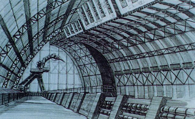 File:Concept Art - Godzilla vs. Biollante - Super X2 Hanger.png