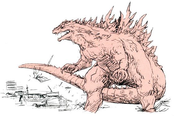File:Concept Art - Godzilla 2000 Millennium - Godzilla 5.png