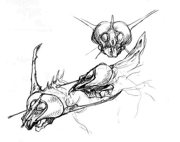 File:Concept Art - Godzilla vs. Megaguirus - Megaguirus 7.png