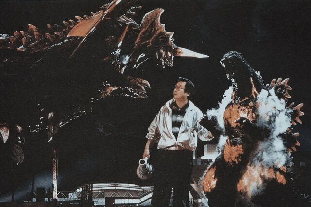 File:GVD - Godzilla, Destroyah and Man with a Megaphone.jpg