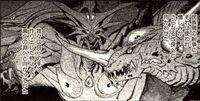 Gamera vs. Barugon Manga - Zigra, Jiger, Iris, and Barugon