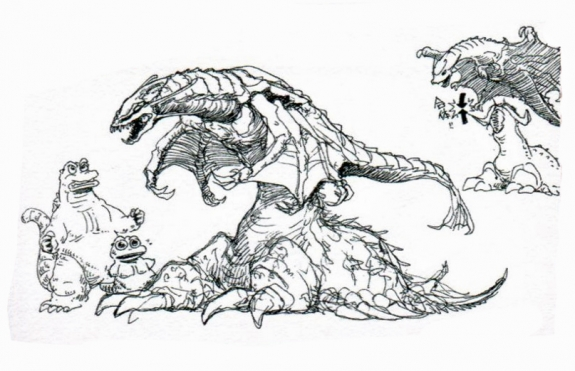 File:Concept Art - Godzilla vs. Destoroyah - Destoroyah 17.png