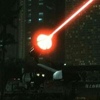 Hyper Laser Cannon firing
