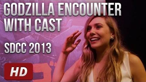 Godzilla Cast & Director Visit the Godzilla Encounter @ SDCC 2013 HD