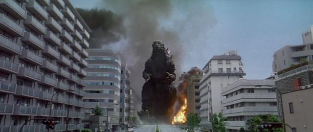 File:Godzilla vs. Megaguirus - Godzilla walks around the city.png