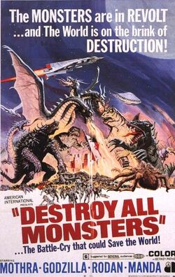 Destroy All Monsters Poster United States 1