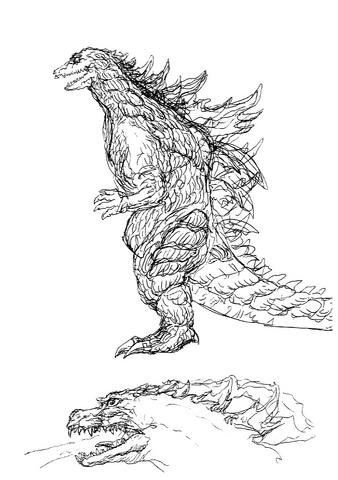 File:Concept Art - Godzilla 2000 Millennium - Godzilla 8.png