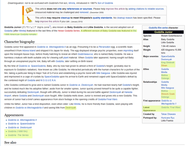 File:Blatantly obvioys Wikipedia errors on Godzilla Junior page.png