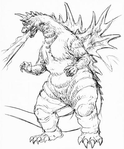 File:Concept Art - Godzilla vs. SpaceGodzilla - SpaceGodzilla 5.png