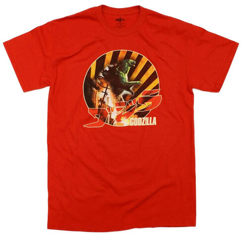 File:Godzilla 2014 Godzilla The Movie Burining Down Retro T-Shirt.jpg