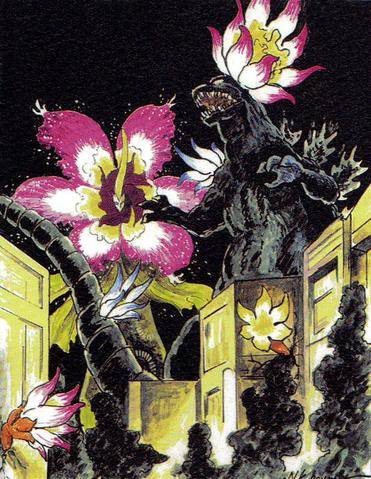 File:Concept Art - Godzilla vs. Biollante - Godzilla vs. Rose Biollante 2.png