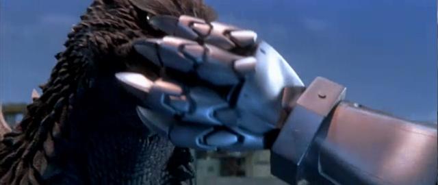 File:Godzilla X MechaGodzilla - Kiryu Grabs Godzilla's Snout.png