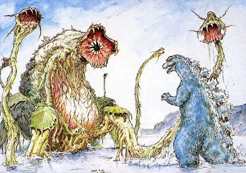 File:Concept Art - Godzilla vs. Biollante - Godzilla vs. Biollante 2.png