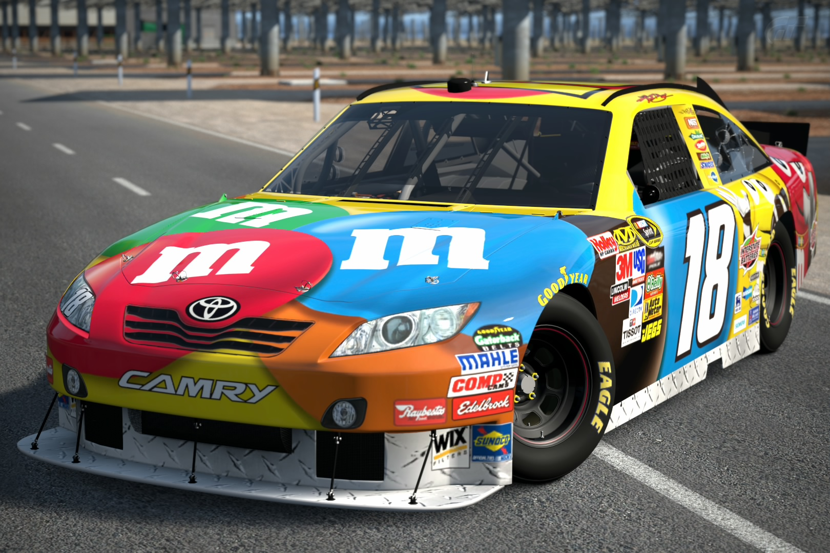 2010 kyle busch 18 m m 39 s toyota camry 39 10 gran turismo wiki fandom powered by wikia. Black Bedroom Furniture Sets. Home Design Ideas