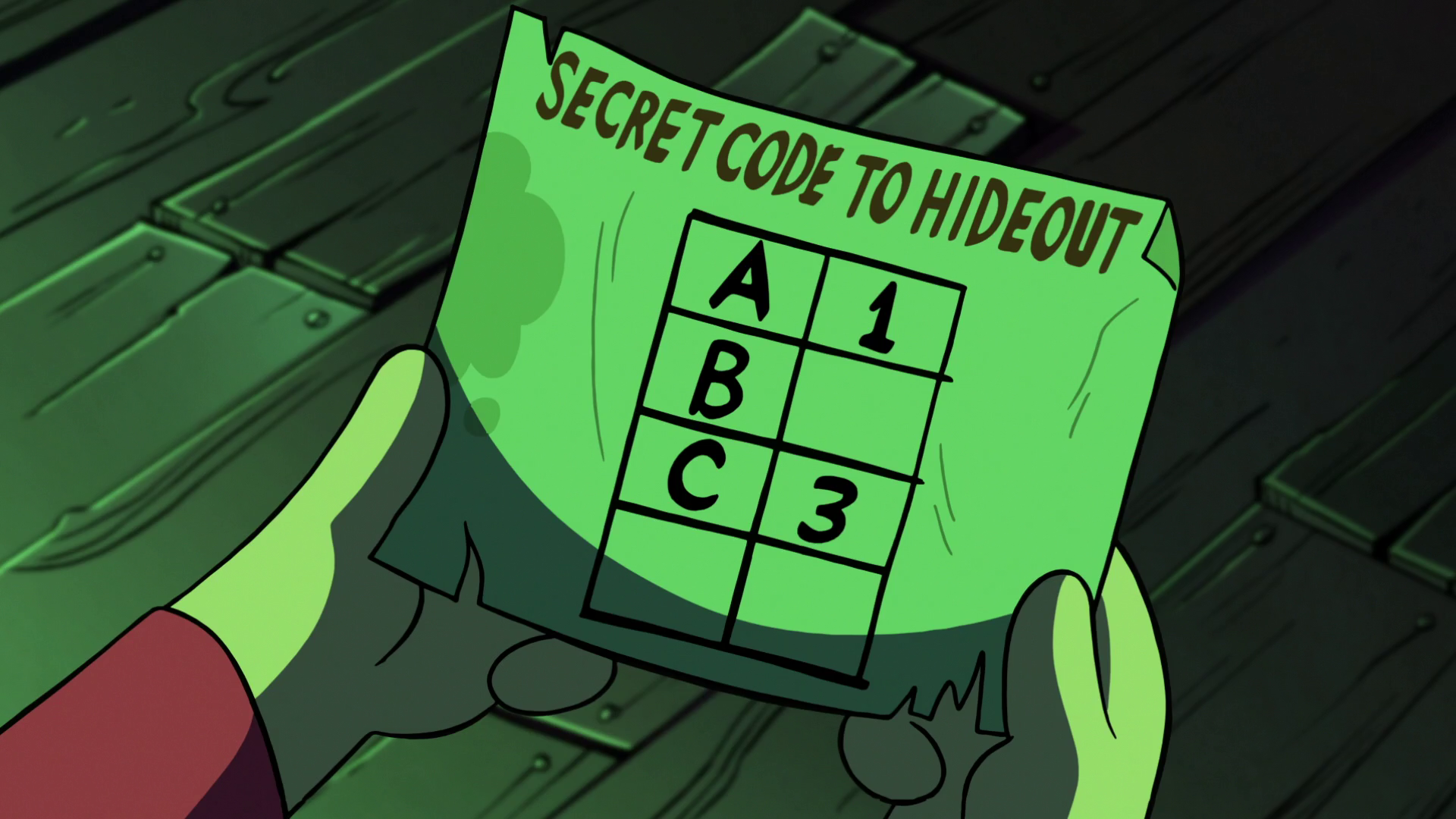 image s2e11 secret codepng gravity falls wiki