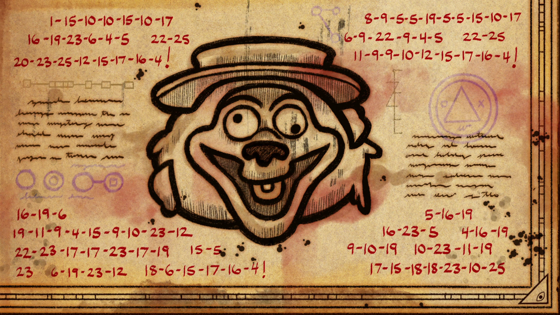 「gravity falls s2 ep 5 end credits words」の画像検索結果