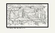 S1e6 mystery shack back porch inked