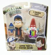 Gravity Falls Dipper and Barfing Gnome toy packaging