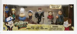 Gravity Falls Six Toy Pack Dipper Mabel Stan Soos Wendy Gideon packaging