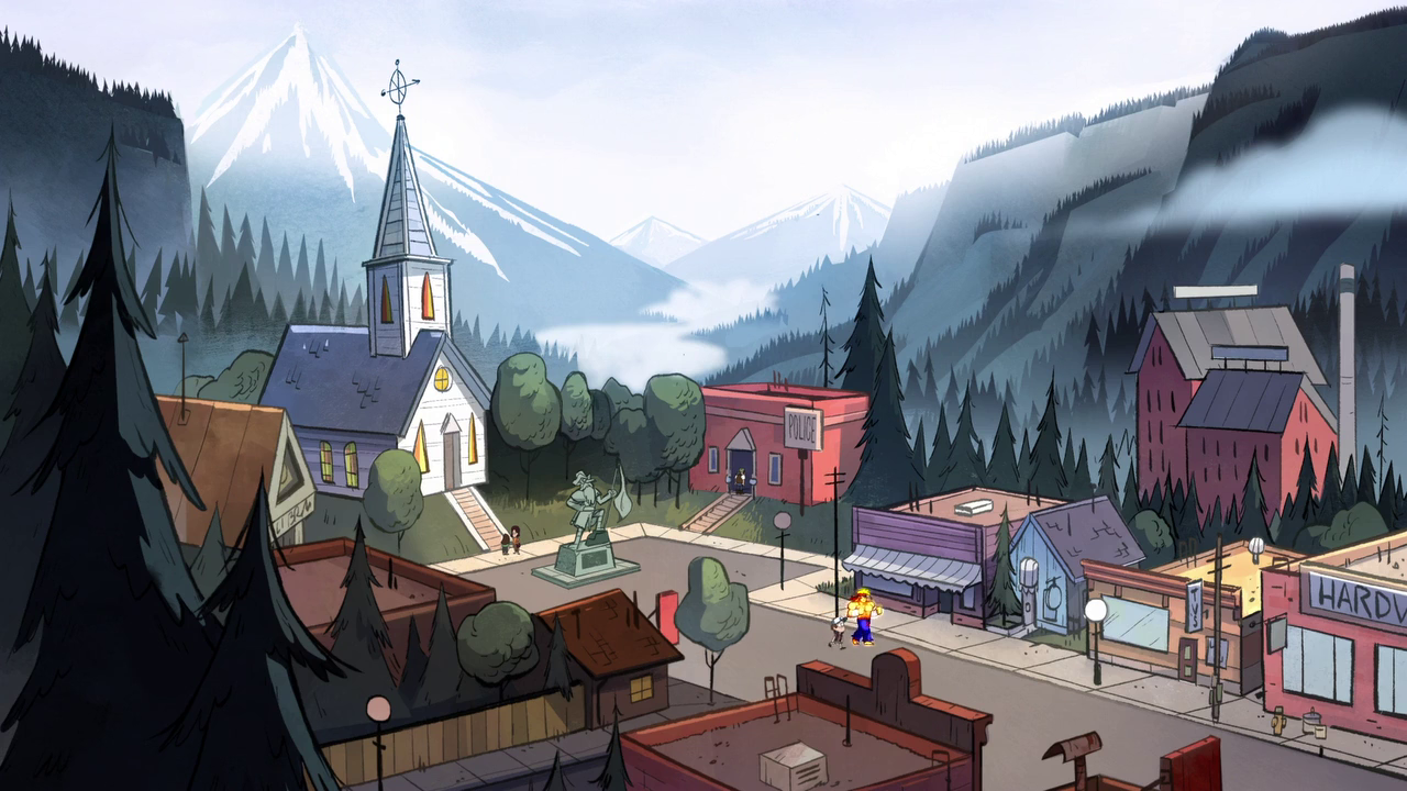 Main Street | Gravity Falls Wiki | FANDOM powered by Wikia | 1280 x 720 png 1028kB