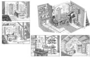 Mystery shack inside sketches