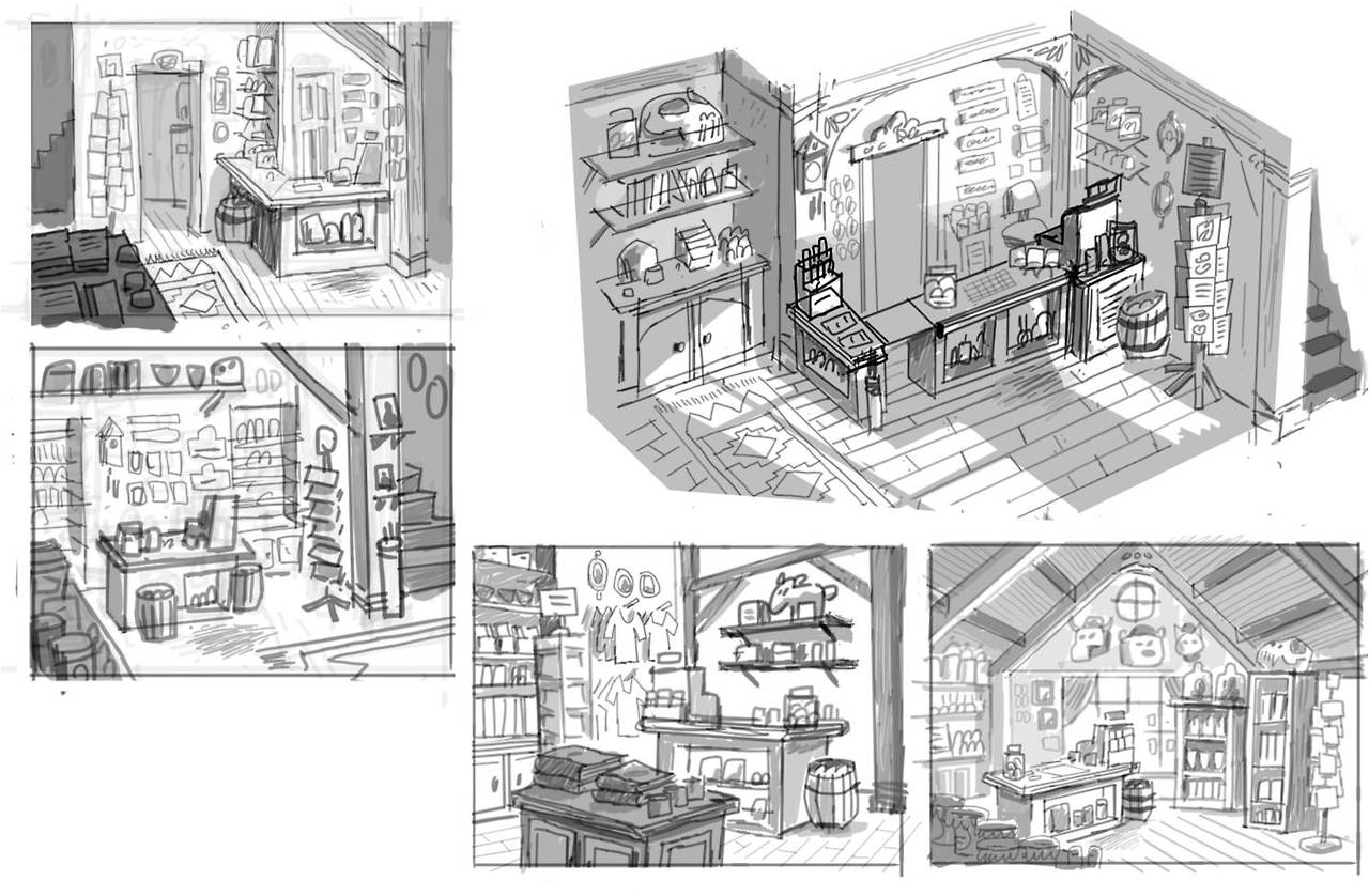 Image mystery shack inside sketches jpg gravity falls wiki fandom powered by wikia