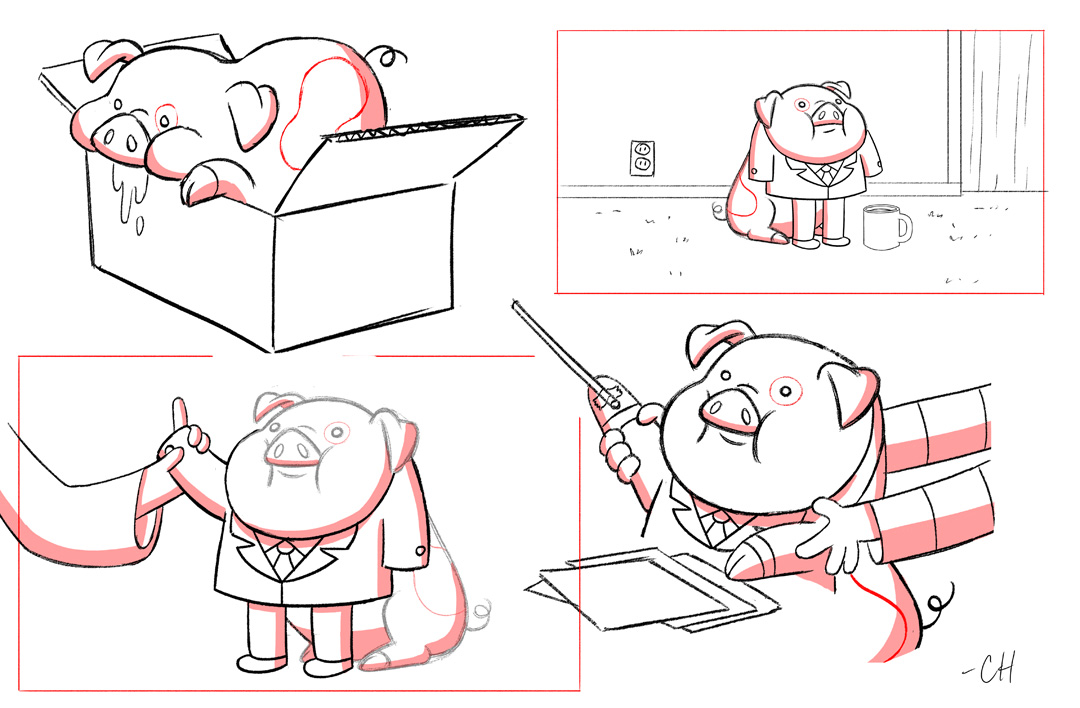 Gravity Falls Waddles Coloring Pages File:chris Houghton S1e12
