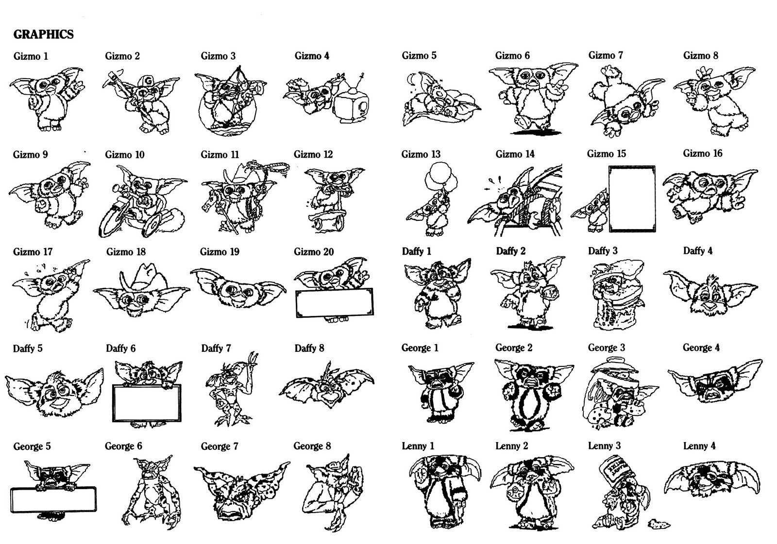 Gremlins 2 Coloring Book Image Graphics Mogwais G Wiki