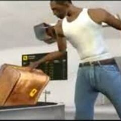CJ's Briefcase with the Rockstar logo on it and the Flight List