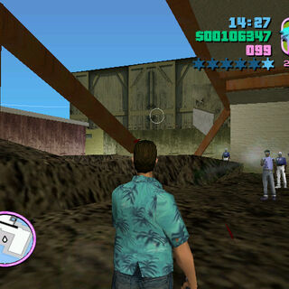 View outside the factory after the player has completed <i>Trojan Voodoo</i>.