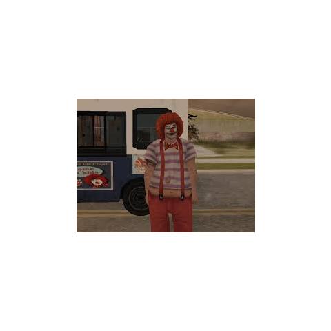 A clown in GTA San Andreas.