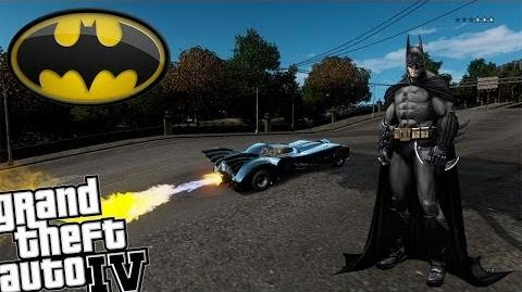 GTA IV - Batmobile with Real Weapons