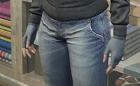 GTAO Gloves Female CharcoalWool