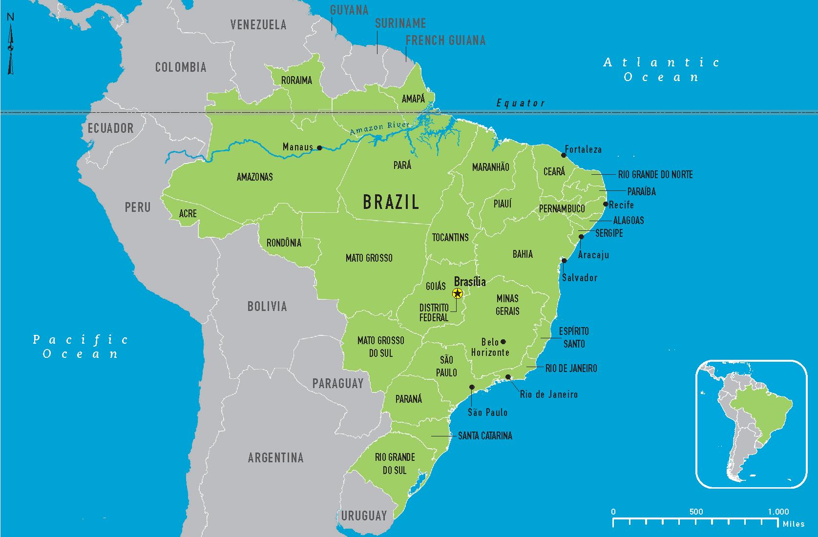 BRAZIL MAP | Mapsnews1.com BRAZIL MAP