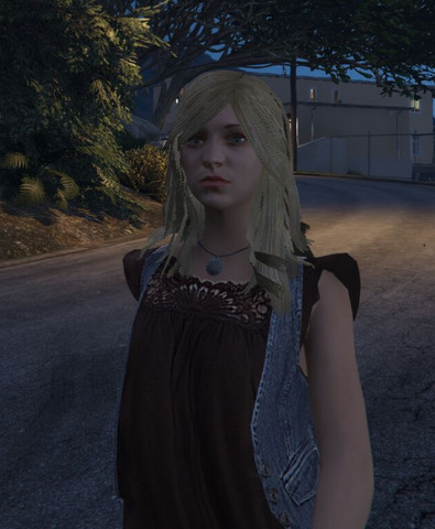 File:Franklins Girlfriend GTAV Out of the Cab.png