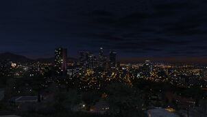 Los Santos Night time marlowe drive