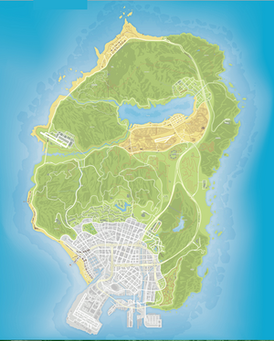 GTA 5 HQ map